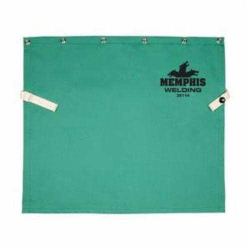 Memphis 39114 Bib With Snap, Green, L/F Cotton, Anodized Button Snap Closure