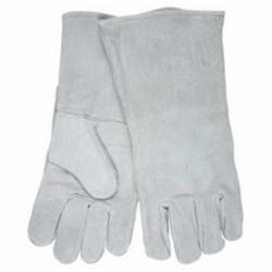 Memphis 4155-XL Economy Grade Welding Gloves, XL, Cow Skin Leather, Gray, Full Sock, Gauntlet Cuff, 13 in L, 1.1 to 1.6 mm Glove Material Thickness