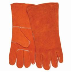 Memphis 4300B-XL Welding Gloves, XL, Polyester/Cotton Thread, Russet, Fleece Lining, Gauntlet Cuff, 13.6 in L, 1.1 to 1.6 mm THK Glove Material