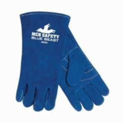 Memphis 4600LH Blue Beast® Premium Grade Welding Gloves, L, Split Select Shoulder Cow Skin Leather, Blue, Jersey, Gauntlet Cuff, 13-5/8 in L, 1.1 to 1.6 mm Glove Material Thickness