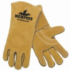 Memphis 4620-XL Premium Grade MIG/TIG Welding Gloves, XL, Kevlar® Thread/Leather, Gold, Jersey Lining, Gauntlet Cuff, 13.62 in L, 1.1 to 1.6 mm THK Glove Material