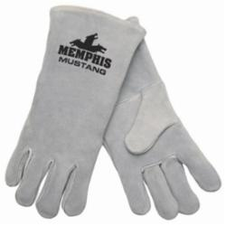 Memphis 4700-XL Premium Grade Welding Gloves, XL, Leather, Gray, Jersey Lining, Gauntlet Cuff, 13.62 in L, 1.1 to 1.6 mm THK Glove Material