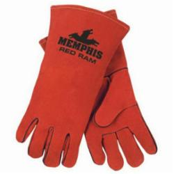 Memphis 4720-XL Premium Grade MIG/TIG Welding Gloves, XL, Split Select Shoulder Cow Skin Leather, Russet, Jersey, Gauntlet Cuff, 13.62 in L, 1.4 to 1.5 mm Glove Material Thickness