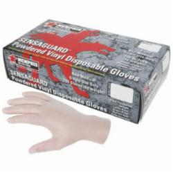 MCR Safety 5020 SensaGuard™ Non-Sterile Disposable Gloves, Vinyl, Clear, 10.197 in L, Powdered, Smooth, 5 mil THK, Application Type: Food/Industrial/Premium Grade, Ambidextrous Hand