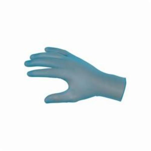 MCR Safety 5030 SensaGuard™ Nonterile Disposable Gloves, Vinyl, Blue, 9.14 in L, Powdered, Smooth, 3 mil THK, Application Type: Food/Industrial/Economy Grade, Ambidextrous Hand