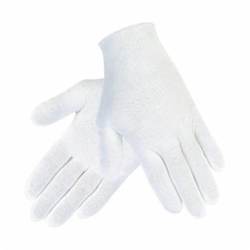 Memphis 8600 Lightweight Reversible Inspectors Gloves, L, 35% Cotton/65% Polyester, White, Straight Thumb, Paired Hand, 8-1/2 in L