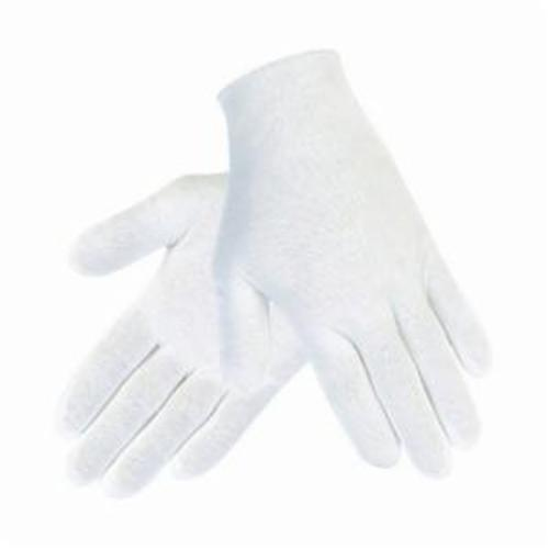 Memphis 8610 Ladies Lightweight Reversible Inspectors Gloves, S, 35% Cotton/65% Polyester, White, Straight Thumb, Paired Hand, 8-1/2 in L