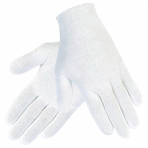 Memphis 8612C Heavyweight Men's Reversible Inspectors Gloves, L, Cotton, White, 9-1/2 in L