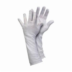 Memphis 8614C Lightweight Men's Reversible Inspectors Gloves, L, Cotton, White, Straight Thumb Style, Paired Hand, 14 in L