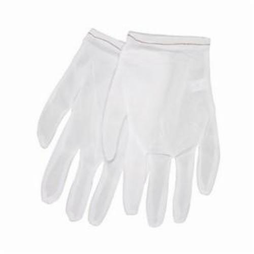 Memphis 8700XS Lightweight Low-Lint Men's Reversible Inspectors Gloves, XS, Nylon, White, Straight Thumb Style, Paired Hand, 8.15 in L