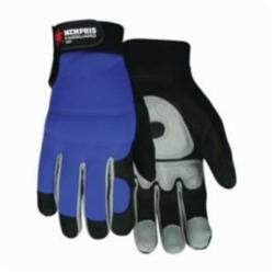 Memphis 905PM FasGuard™ 905P Premium Grade General Purpose Gloves, Leather Palm/Multi-Task, Gunn Cut/Standard Finger/Wing Thumb Style, M, Suede Synthetic Leather Palm, Spandex®, Black/Powder Pink, Elastic Cuff, Unlined Lining