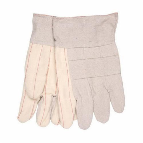 Memphis 9124 Economy Grade Weight Hot Mill Gloves, L, ANSI Heat Level: 4, Cotton, Natural, Cotton Lining, Band Top Cuff, Uncoated Coating, 10-1/2 in L, 500 deg F Max