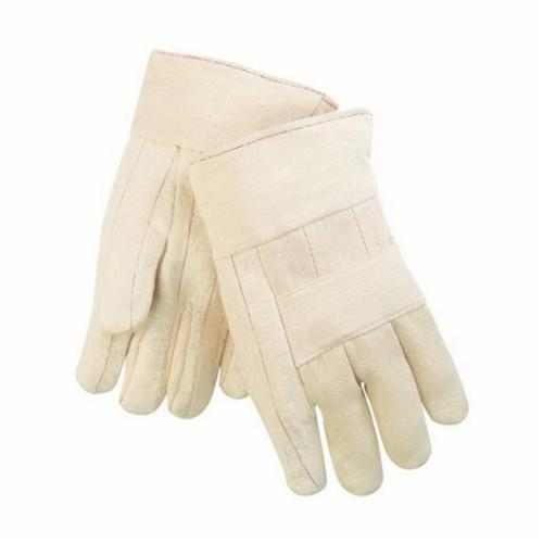 Memphis 9124C Regular Weight Hot Mill Gloves, L, Cotton, Natural, Cotton Lining, Band Top Cuff, Uncoated Coating, 10-1/2 in L