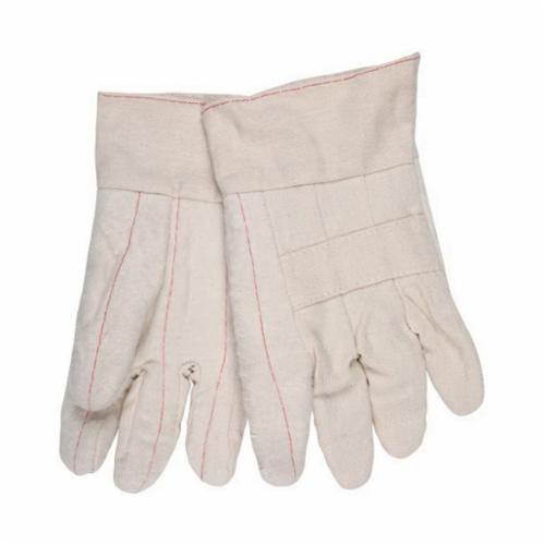 Memphis 9132 Heavyweight Hot Mill Gloves, L, ANSI Heat Level: 4, Cotton, Natural, Cotton Lining, Band Top Cuff, Uncoated Coating, 10.3 in L, 500 deg F Max