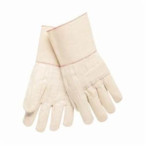 Memphis 9132G Heavyweight Hot Mill Gloves, L, Cotton, Natural, Burlap Lining, Band Top Cuff, Uncoated Coating, 12-1/2 in L
