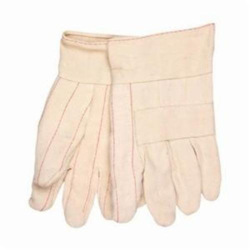 Memphis 9132K Heavyweight Hot Mill Gloves, L, Cotton, Natural, Burlap Lining, Band Top Cuff, Uncoated Coating, 10.35 in L