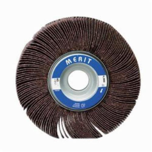 Merit® Grind-O-Flex™ 08834124009 XX-101 High Performance Unmounted Coated Flap Wheel, 10 in Dia, 1 in W Face, 320 Grit, Extra Fine Grade, Aluminum Oxide Abrasive