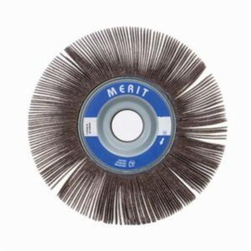 Norton® Merit® Grind-O-Flex™ 08834122039 XX-4010 High Performance Unmounted Coated Flap Wheel, 4 in Dia, 1 in W Face, P240 Grit, Very Fine Grade, Aluminum Oxide Abrasive