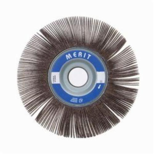 Merit® Grind-O-Flex™ 08834122132 XX-103 High Performance Unmounted Coated Flap Wheel, 10 in Dia, 3 in W Face, P180 Grit, Fine Grade, Aluminum Oxide Abrasive