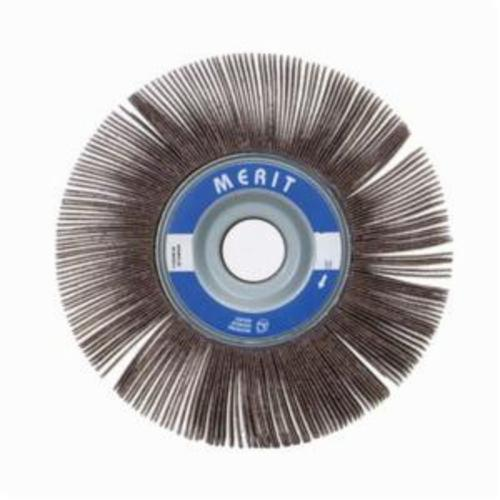 Merit® Grind-O-Flex™ 08834122271 XX-122 High Performance Unmounted Coated Flap Wheel, 12 in Dia, 2 in W Face, P180 Grit, Fine Grade, Aluminum Oxide Abrasive