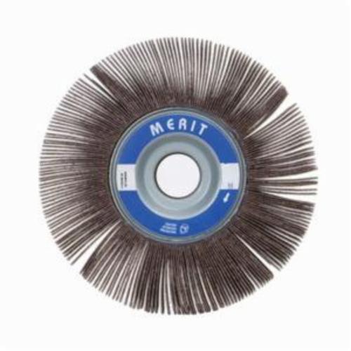 Merit® Grind-O-Flex™ 08834122349 XX-121 High Performance Unmounted Coated Flap Wheel, 12 in Dia, 1 in W Face, P80 Grit, Medium Grade, Aluminum Oxide Abrasive