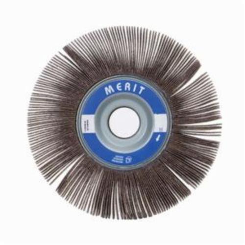 Merit® Grind-O-Flex™ 08834123034 XX-062 High Performance Unmounted Coated Flap Wheel, 6 in Dia, 2 in W Face, P80 Grit, Medium Grade, Aluminum Oxide Abrasive