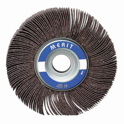 Merit® Grind-O-Flex™ 08834137592 MM-3434 High Performance Micro-Mini Mounted Coated Flap Wheel, 3/4 in Dia, 3/4 in W Face, 1/8 in Dia Shank, P120 Grit, Medium Grade, Aluminum Oxide Abrasive