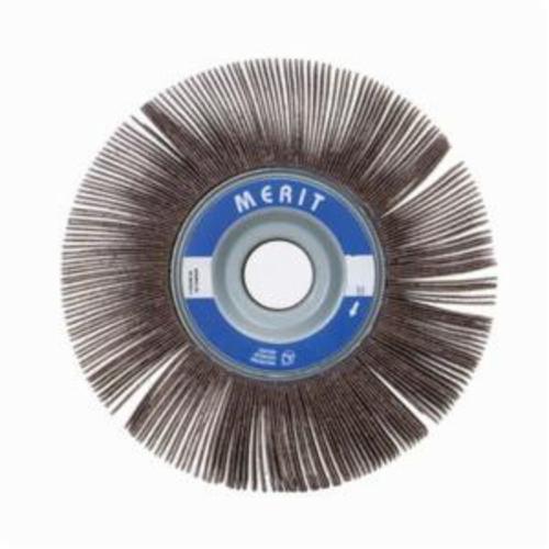Merit® Grind-O-Flex™ 08834123060 XX-063 High Performance Unmounted Coated Flap Wheel, 6 in Dia, 3 in W Face, P180 Grit, Fine Grade, Aluminum Oxide Abrasive