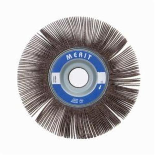 Merit® Grind-O-Flex™ 08834124003 XX-101 High Performance Unmounted Coated Flap Wheel, 10 in Dia, 1 in W Face, P80 Grit, Medium Grade, Aluminum Oxide Abrasive