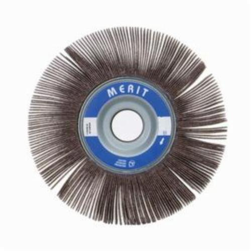 Merit® Grind-O-Flex™ 08834124022 XX-1015 High Performance Unmounted Coated Flap Wheel, 10 in Dia, 1-1/2 in W Face, P60 Grit, Coarse Grade, Aluminum Oxide Abrasive