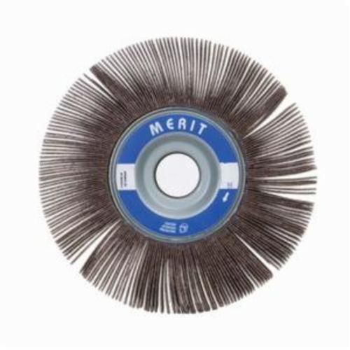 Merit® Grind-O-Flex™ 08834124043 XX-102 High Performance Unmounted Coated Flap Wheel, 10 in Dia, 2 in W Face, P80 Grit, Medium Grade, Aluminum Oxide Abrasive