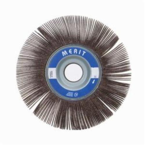 Merit® Grind-O-Flex™ 08834124085 XX-121 High Performance Unmounted Coated Flap Wheel, 12 in Dia, 1 in W Face, P60 Grit, Coarse Grade, Aluminum Oxide Abrasive