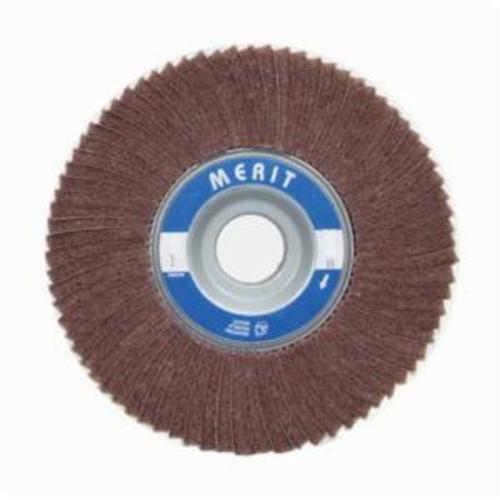Merit® Bear-Tex® 08834126006 Non-Woven Flap Wheel, 6 in Dia, 1 in W Face, 120 Grit, Medium Grade, Aluminum Oxide Abrasive