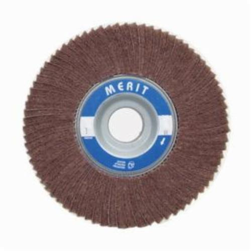 Merit® Bear-Tex® 08834126014 Non-Woven Flap Wheel, 4 in Dia, 2 in W Face, 240 Grit, Very Fine Grade, Aluminum Oxide Abrasive