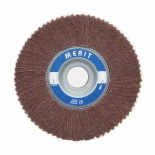 Merit® 08834126015 Non-Woven Flap Wheel, 4 in Dia, 2 in W Face, 180 Grit, Fine Grade, Aluminum Oxide Abrasive