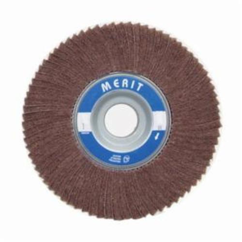 Merit® 08834126026 Non-Woven Flap Wheel, 4 in Dia, 2 in W Face, 80 Grit, Medium Grade, Aluminum Oxide Abrasive