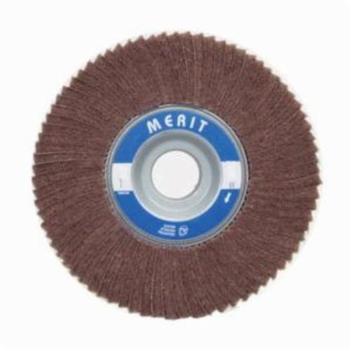 Norton® Merit® 08834126026 Non-Woven Flap Wheel, 4 in Dia, 2 in W Face, 80 Grit, Medium Grade, Aluminum Oxide Abrasive