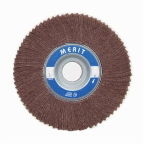 Norton® Merit® 08834126033 Non-Woven Flap Wheel, 6 in Dia, 2 in W Face, 320 Grit, Very Fine Grade, Aluminum Oxide Abrasive
