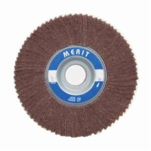 Merit® 08834126042 Non-Woven Flap Wheel, 8 in Dia, 2 in W Face, 80 Grit, Medium Grade, Aluminum Oxide Abrasive