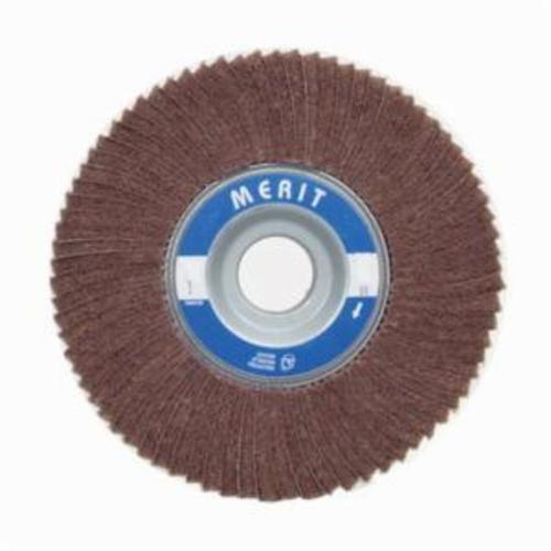 Norton® Merit® 08834126042 Non-Woven Flap Wheel, 8 in Dia, 2 in W Face, 80 Grit, Medium Grade, Aluminum Oxide Abrasive