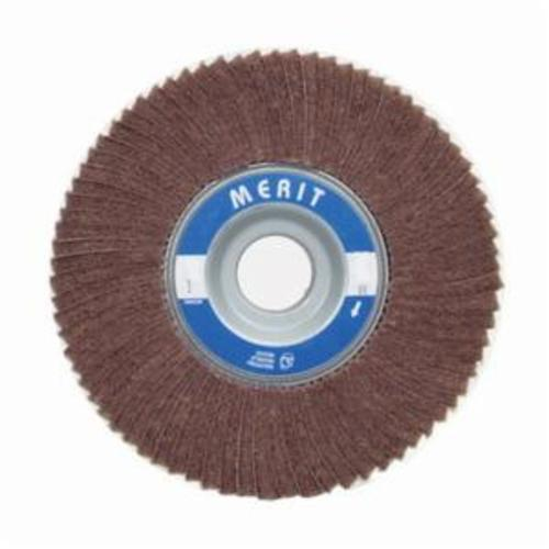 Merit® 08834126043 Non-Woven Flap Wheel, 8 in Dia, 2 in W Face, 120 Grit, Medium Grade, Aluminum Oxide Abrasive