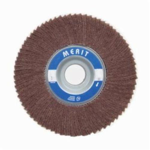 Norton® Merit® 08834126043 Non-Woven Flap Wheel, 8 in Dia, 2 in W Face, 120 Grit, Medium Grade, Aluminum Oxide Abrasive