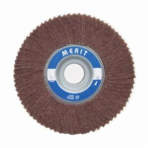Merit® 08834126048 Non-Woven Flap Wheel, 6 in Dia, 3 in W Face, 180 Grit, Fine Grade, Aluminum Oxide Abrasive