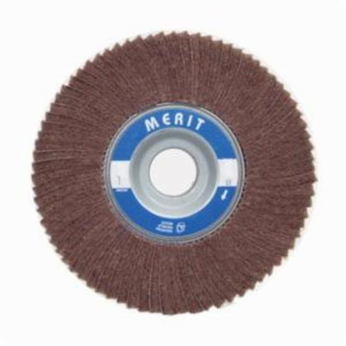 Norton® Merit® 08834126048 Non-Woven Flap Wheel, 6 in Dia, 3 in W Face, 180 Grit, Fine Grade, Aluminum Oxide Abrasive
