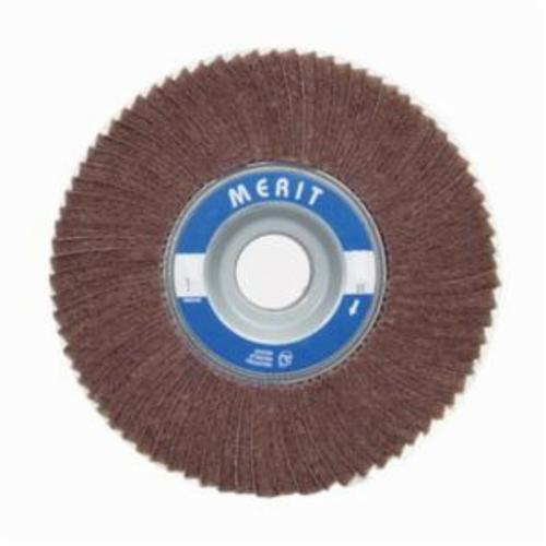 Merit® Bear-Tex® 08834126055 Non-Woven Flap Wheel, 6 in Dia, 3 in W Face, 80 Grit, Medium Grade, Aluminum Oxide Abrasive