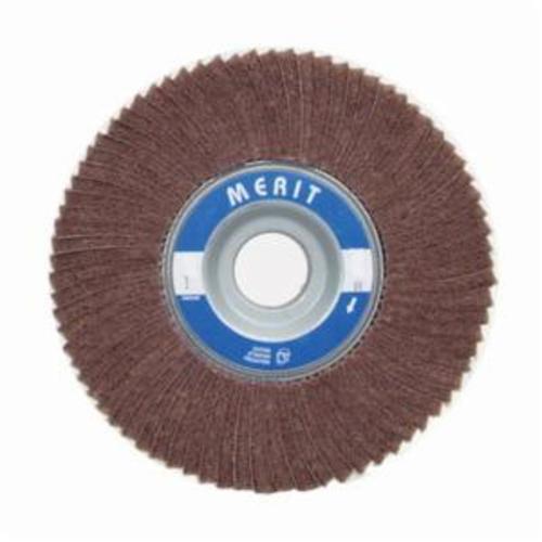 Merit® 08834126068 Non-Woven Flap Wheel, 6 in Dia, 1 in W Face, 180 Grit, Very Fine Grade, Aluminum Oxide Abrasive