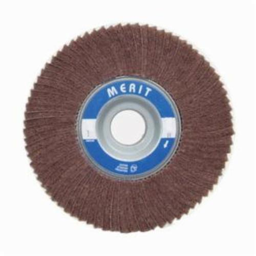 Norton® Merit® 08834126068 Non-Woven Flap Wheel, 6 in Dia, 1 in W Face, 180 Grit, Very Fine Grade, Aluminum Oxide Abrasive