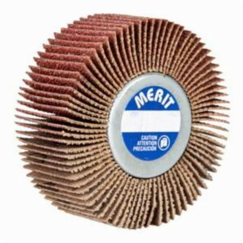 Merit® Grind-O-Flex™ 08834130742 XX-3007 Mini Mounted Super Finish Coated Flap Wheel, 3 in Dia, 3/4 in W Face, P60 Grit, Coarse Grade, Aluminum Oxide Abrasive