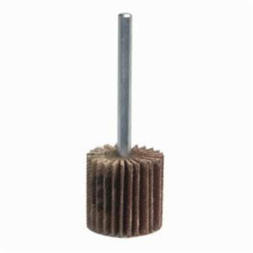 Norton® Merit® Grind-O-Flex™ 08834130763 Mini Super Finish Small Diameter Coated Flap Wheel, 1 in Dia Wheel, 1 in W Face, 1/4 in Dia Shank, 180 Grit, Fine Grade, Aluminum Oxide Abrasive