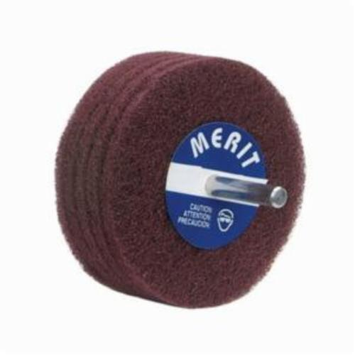 Norton® Merit® Bear-Tex® 08834131557 Non-Woven Disc Wheel, 3 in Dia, 1/4 in Center Hole, 1 in W Face, Fine Grade, Aluminum Oxide Abrasive